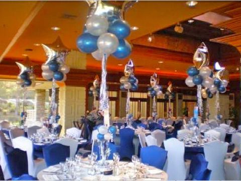 Wedding Decorations on Decoratons In Blue And White For A Birthday Party